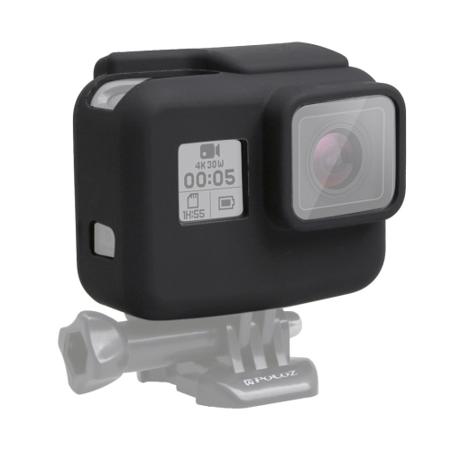 PULUZ for GoPro NEW HERO /HERO6 /5 Housing Cover Silicone Protective Case with Lens Cover(Black) цена