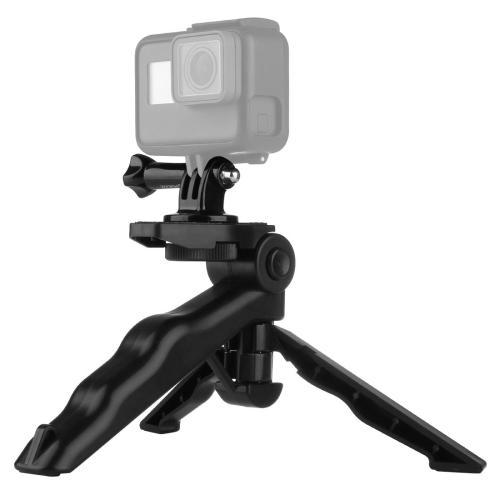 PULUZ Grip Folding Tripod Mount with Adapter & Screws for GoPro HERO6 /5 /4 /3+ /3 /2 /1, SJ4000, Digital Cameras, Load Max: 2kg(Black) htl 702 adapter for tripod