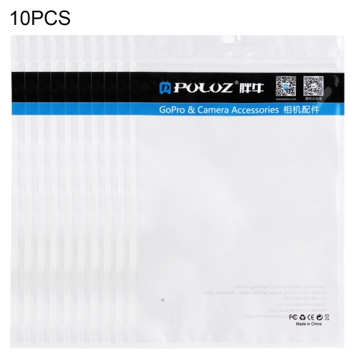 10 PCS PULUZ 25.8cm x 18cm Hang Hole Clear Front White Pearl Jewelry Zip Lock Packaging Bag (Size: L)