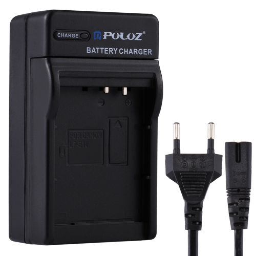 PULUZ EU Plug Battery Charger with Cable for Canon LP-E10 Battery 3 7v 2680mah battery usb us plug battery charger eu plug adapter for sony lt29i st26i