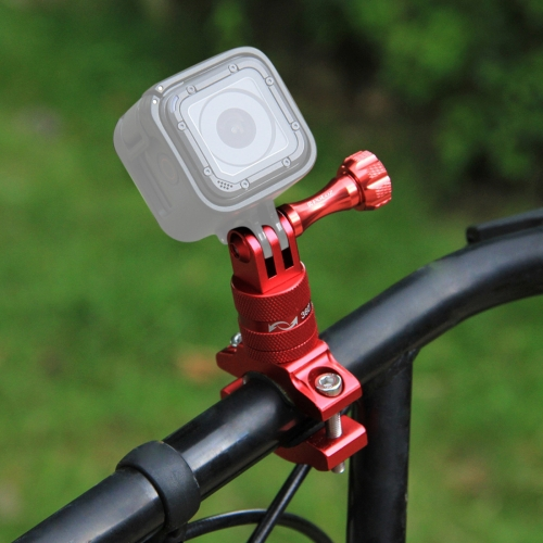 PULUZ 360 Degree Rotation Bike Aluminum Handlebar Adapter Mount with Screw for GoPro NEW HERO /HERO6 /5 Session /5 /4 Session /4 /3+ /3 /2 /1, Sony RX0, Xiaoyi Sport Cameras(Red) mymei outdoor 90db ring alarm loud horn aluminum bicycle bike safety handlebar bell