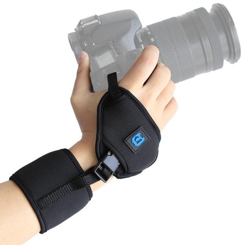 PULUZ Soft Neoprene Hand Grip Wrist Strap with 1/4 inch Screw Plastic Plate for SLR / DSLR Cameras 5 pcs 6mm male thread dia black plastic star head metal grip clamping screw knob