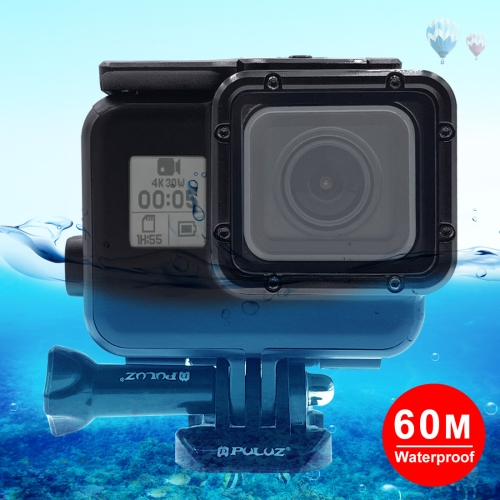 PULUZ 2 in 1 for GoPro NEW HERO /HERO6 /5 Back Cover + 30m Waterproof Housing Protective Case with Buckle Basic Mount & Lead Screw, No Need to Remove Lens цена