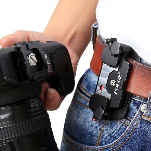 [US Stock] PULUZ Capture Camera Clip Aluminum Alloy Quick Release Clip with Plate