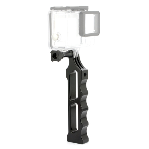 PULUZ Aluminum Alloy Hand Holder Grip for DJI Osmo Action, GoPro NEW HERO /HERO7 /6 /5 /5 Session /4 Session /4 /3+ /3 /2 /1, Xiaoyi and Other Action Cameras(Black)