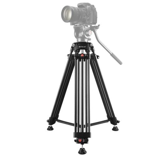 PULUZ Professional Heavy Duty Video Camcorder Aluminum Alloy Tripod for DSLR / SLR Camera, Adjustable Height: 62-140cm