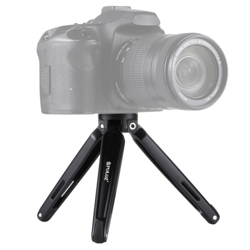 PULUZ Pocket Mini Metal Desktop Tripod Mount with 1/4 inch to 3/8 inch Thread Adapter Screw for DSLR & Digital Camera, Adjustable Height: 4.5-15cm, Max Load: 20kg(Black) 5 pcs 6mm male thread dia black plastic star head metal grip clamping screw knob