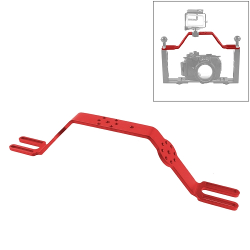 CAOMING Diving Tray Bracket Dual Handle Grip Handheld Expansion Mount System Durable Color : Black