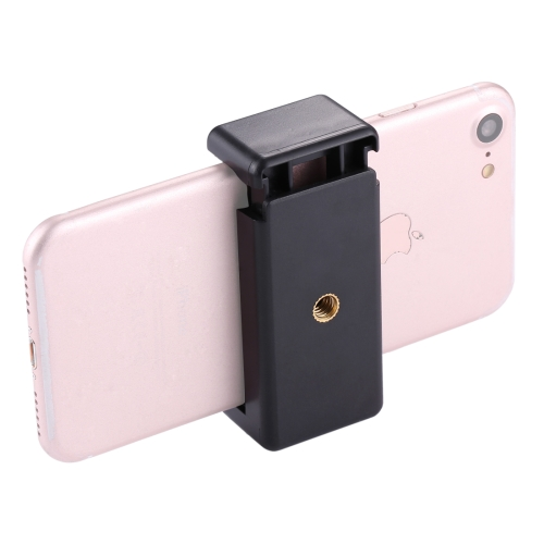 PULUZ Selfie Sticks Tripod Mount Phone Clamp with 1/4 inch Screw Hole for iPhone, Samsung, HTC, Sony, LG and other Smartphones