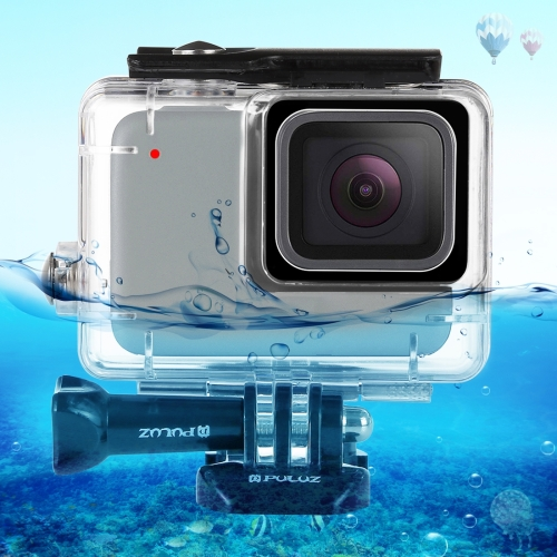 [US Stock] PULUZ 45m Underwater Waterproof Housing Diving Case for GoPro HERO7 Silver / HERO7 White, with Buckle Basic Mount & Screw(Transparent)