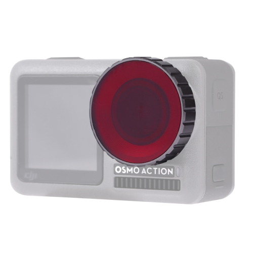 PULUZ Diving Color Lens Filter for DJI Osmo Action(Red)