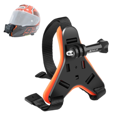 PULUZ Motorcycle Helmet Chin Strap Belt Mount for DJI Osmo Action, GoPro HERO7 /6 /5 /5 Session /4 Session /4 /3+ /3 /2 /1, Xiaoyi and Other Action Cameras