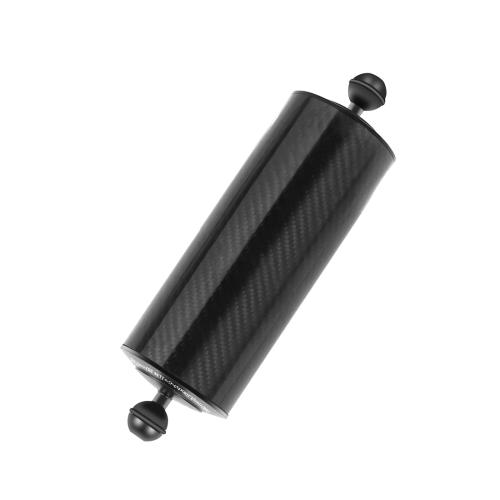 PULUZ 10.82 inch 27.5cm Length 80mm Diameter Dual Balls Carbon Fiber Floating Arm, Ball Diameter: 25mm, Buoyancy: 800g