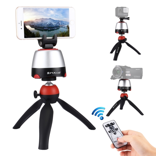 Buy US Stock PULUZ Electronic 360 Degree Rotation Panoramic Head + Tripod Mount + GoPro Clamp + Phone Clamp with Remote Controller for Smartphones, GoPro, DSLR Cameras for $19.83 in SUNSKY store