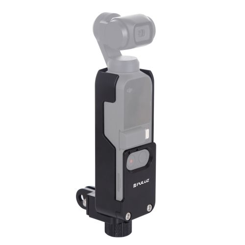 PULUZ Housing Shell CNC Aluminum Alloy Protective Cover for DJI OSMO Pocket(Black)