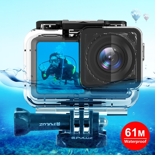 PULUZ 61m Underwater Waterproof Housing Diving Case for DJI Osmo Action, with Buckle Basic Mount & Screw фото