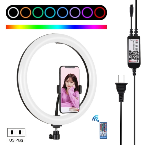 3 Color 11 Levels Table Ring Light with Remote Control LEEaccessory LED Ring Light Kit Selfie Ring Light Set Bluetooth Receiver 20 // 26CM for Make-up Video Recording