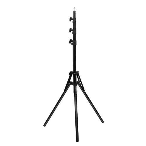 PULUZ Reverse Foldable 4 Sections 1.8m Height Tripod Mount Holder for Vlogging Video Light Live Broadcast Kits(Black) фото