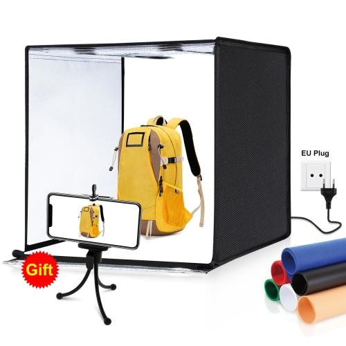 Portable Photo Studio Lighting Cube Tent Kit 60CM Soft Light Box /& 4 Backgrounds