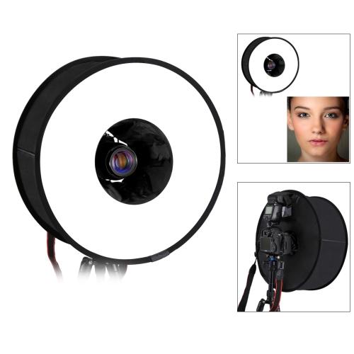 PULUZ 45cm Round Style Macro and Portrait Softbox SpeedLite Flash Light Foldable Diffuser
