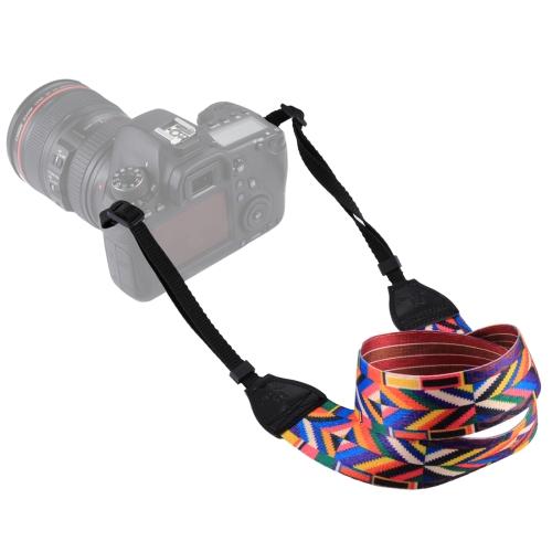 PULUZ Retro Ethnic Style Multi-color Series Shoulder Neck Strap Camera Strap for SLR / DSLR Cameras multicolored anti slip nylon shoulder strap for slr dslr camera black