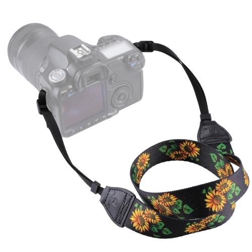 PULUZ Retro Ethnic Style Multi-color Series Sunflower Shoulder Neck Strap Camera Strap for SLR / DSLR Cameras multicolored anti slip nylon shoulder strap for slr dslr camera black