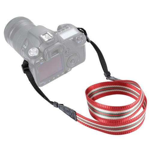 PULUZ Stripe Style Series Shoulder Neck Strap Camera Strap for SLR / DSLR Cameras(Dark Red) multicolored anti slip nylon shoulder strap for slr dslr camera black