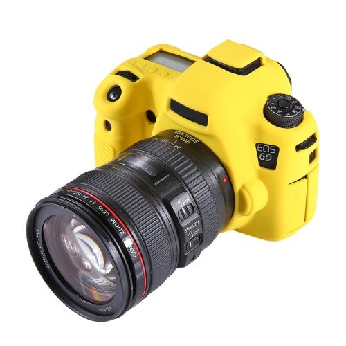 PULUZ Soft Silicone Protective Case for Canon EOS 6D(Yellow)