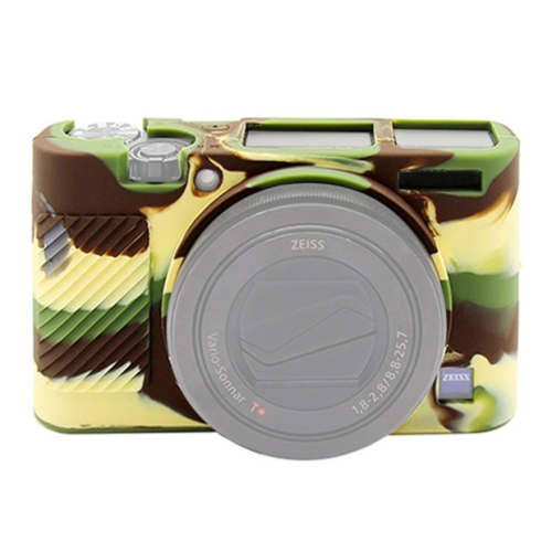 PULUZ Soft Silicone Protective Case for Sony RX100 III / IV / V(Camouflage)