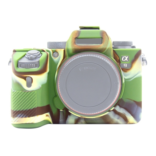 PULUZ Soft Silicone Protective Case for Sony A9 / ILCE-9(Camouflage)
