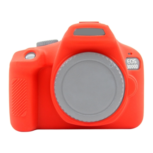 PULUZ Soft Silicone Protective Case for Canon EOS 3000D / 4000D(Red)