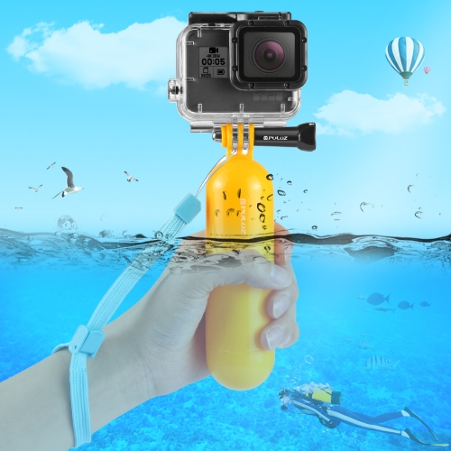 PULUZ Floating Handle Bobber Hand Grip with Strap for GoPro NEW HERO /HERO6 /5 /5 Session /4 Session /4 /3+ /3 /2 /1, Xiaoyi and Other Action Cameras feiyu tech wg2 fy wearable gimbal waterproof stabilizer for gopro hero 5 session 4 session and similar size sports camera