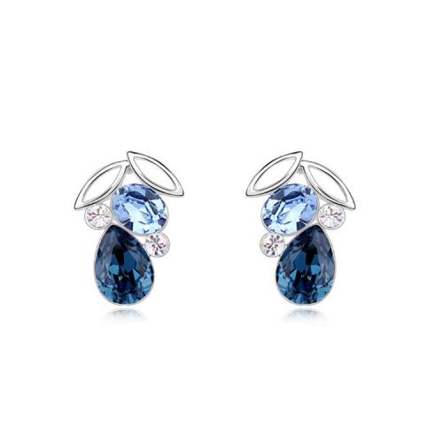 Buy 3 Pack Austrian Crystal Earrings Night Elf (Colour: Ink Blue + Light Blue) for $31.14 in SUNSKY store