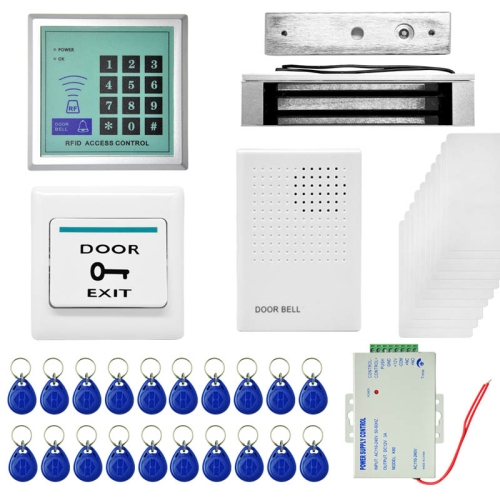 Buy MJPT008 RFID Access Control System Kits + Magnetic Lock + 20 ID Keyfobs + 10 ID Cards + Power Supply + Door Bell + Exit Button for $40.33 in SUNSKY store