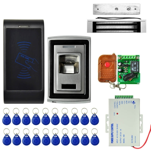 Buy MJPT011 2xDoor Access Control System Kits + Magnetic Lock + 20 ID Keyfobs + Power Supply + Remote Controller for $144.98 in SUNSKY store