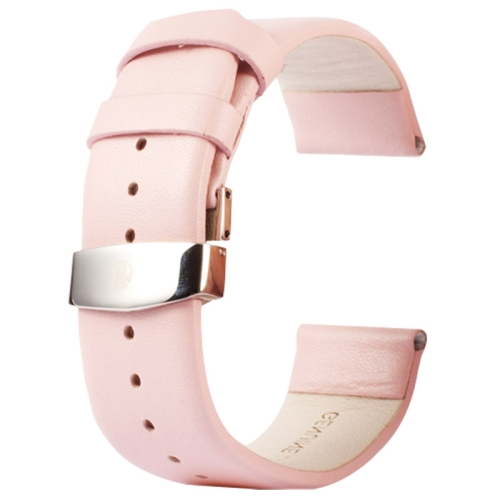 Buy Kakapi for Apple Watch 38mm Subtle Texture Double Buckle Genuine Leather Watchband, Only Used in Conjunction with Connectors (S-AW-3291), Pink for $7.65 in SUNSKY store