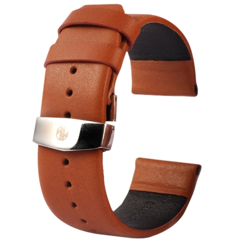 Buy Kakapi for Apple Watch 38mm Subtle Texture Double Buckle Genuine Leather Watchband, Only Used in Conjunction with Connectors (S-AW-3291), Brown for $7.65 in SUNSKY store