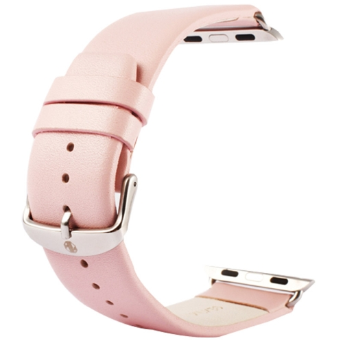 Buy Kakapi for Apple Watch 38mm Subtle Texture Classic Buckle Genuine Leather Watchband with Connector, Pink for $8.22 in SUNSKY store
