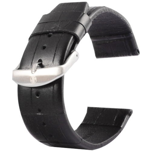 Buy Kakapi for Apple Watch 38mm Crocodile Texture Brushed Buckle Genuine Leather Watchband, Only Used in Conjunction with Connectors (S-AW-3291), Black for $4.76 in SUNSKY store