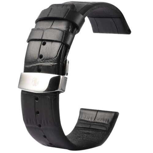 Buy Kakapi for Apple Watch 38mm Crocodile Texture Double Buckle Genuine Leather Watchband, Only Used in Conjunction with Connectors (S-AW-3291), Black for $7.63 in SUNSKY store