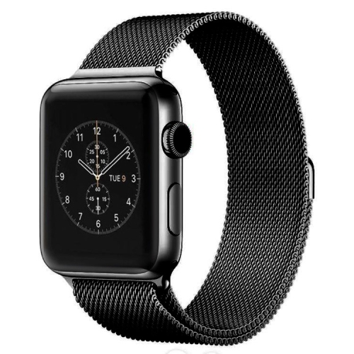 Buy For Apple Watch 38mm Milanese Loop Magnetic Stainless Steel Watchband, Black for $6.60 in SUNSKY store