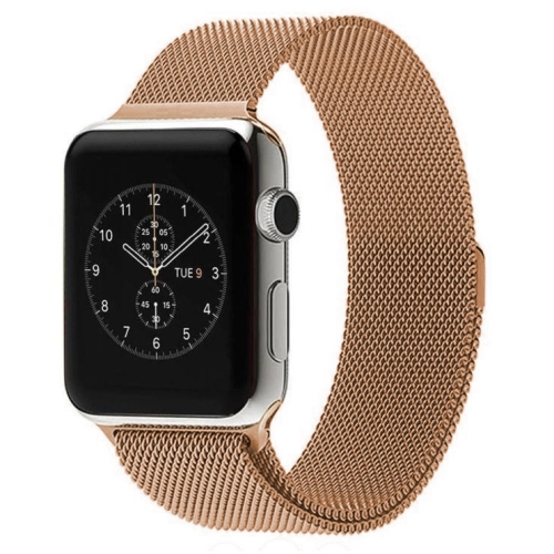 Buy For Apple Watch 38mm Milanese Loop Magnetic Stainless Steel Watchband (Rose Gold) for $6.62 in SUNSKY store