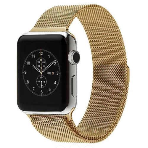 Buy For Apple Watch 42mm Milanese Loop Magnetic Stainless Steel Watchband, Gold for $6.37 in SUNSKY store