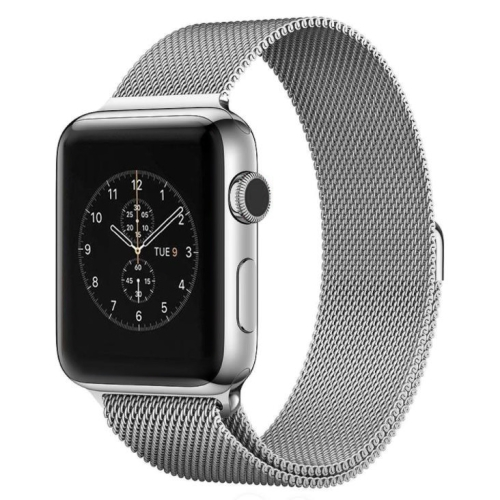 Buy For Apple Watch 42mm Milanese Loop Magnetic Stainless Steel Watchband, Silver for $4.97 in SUNSKY store