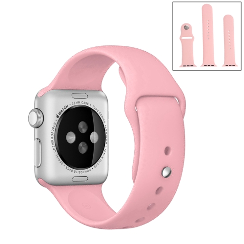 Buy For Apple Watch Sport 42mm High-performance Ordinary & Longer Rubber Sport Watchband with Pin-and-tuck Closure, Pink for $4.44 in SUNSKY store