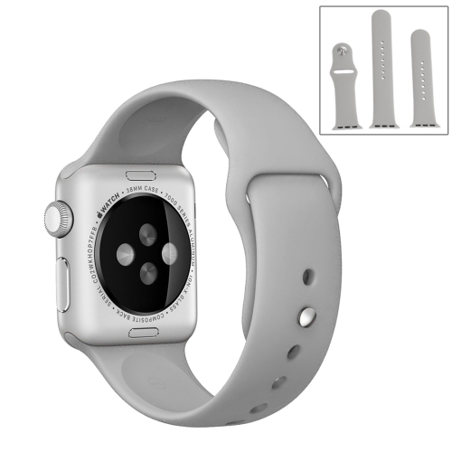 Buy For Apple Watch Sport 42mm High-performance Ordinary & Longer Rubber Sport Watchband with Pin-and-tuck Closure, Grey for $4.44 in SUNSKY store