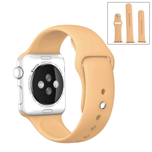 Buy For Apple Watch Sport 42mm High-performance Ordinary & Longer Rubber Sport Watchband with Pin-and-tuck Closure, Khaki for $4.44 in SUNSKY store