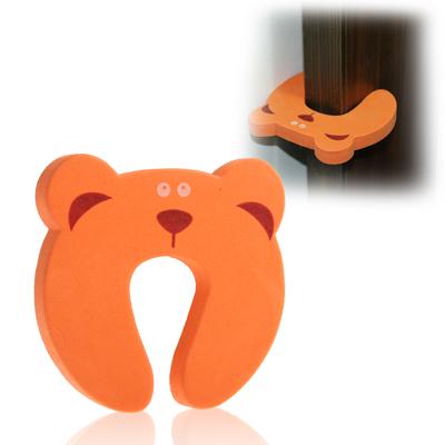 Cartoon Child Safety Gate Card / EVA Door Stopper, Orange