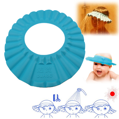 Buy Baby Child Kid Soft Shampoo Bath Shower Wash Hair Shield Hat Cap, Blue for $1.83 in SUNSKY store
