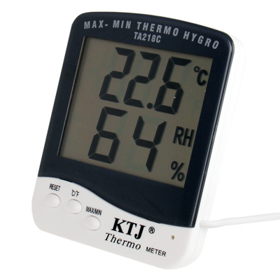Buy Digital LCD Thermometer with Extra Sensor Cable and Hygrometer for $4.25 in SUNSKY store